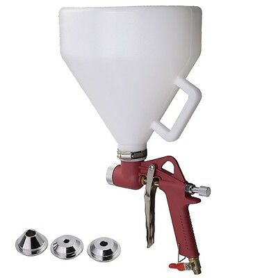 Used Air Hopper Spray Gun Paint Texture Tool Drywall Wall Painting Sprayer Nozzl