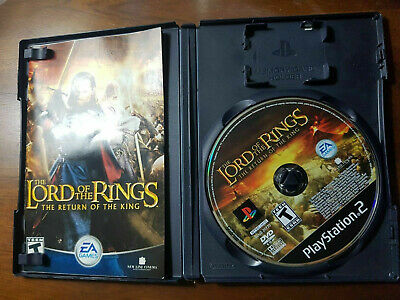 Lord of the Rings The Return of the King PS2 Compete CIB PERFECT DISC FastShip!!