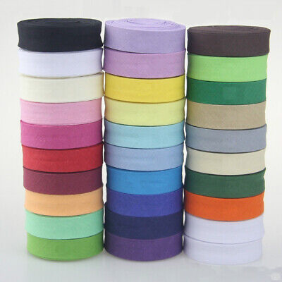100% Cotton Bias Binding Tape Folded 16mm Wide 5/8 Inch Trimming/Edging/Quilting