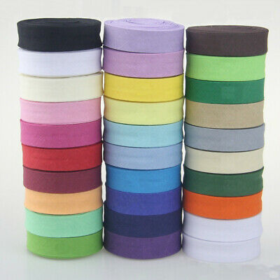 "Cotton Bias Binding Tape 16mm Wide 5/8"" Double Folded Trimming/Edging/Quilting"