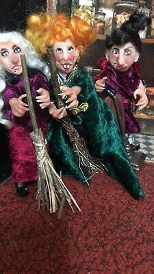 Puppenstuben & -häuser Artisan Dolls House Polymer Clay Witch/ Hag  Ooak Figure 1:12th in glass display