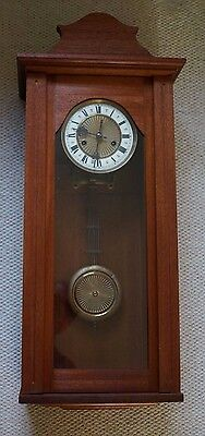 Old Vienna  wall clock with key fully working