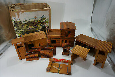 "DDR Spielzeug Wild West Holz Fort "" Stronghold "" -  in Box"