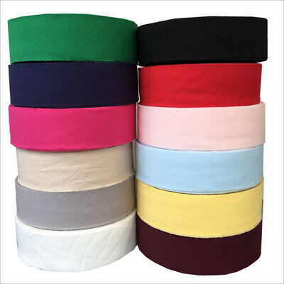 "100% Cotton Bias Binding Tape 30mm ( > 16mm ) Wide 1.2"" Trimming/Edging/Quilting"