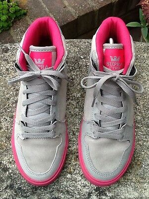 LADIES SUPRA FTWR CO Suede Grey Hi Tops Trainers Size Uk 5 - £16.00 ... 5f8944e386
