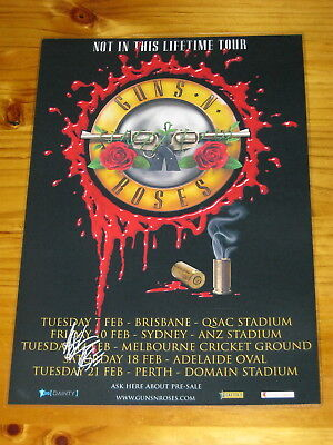 GUNS N ROSES - SIGNED AUTOGRAPHED 2017 Australia Laminated Tour Poster AXL ROSE