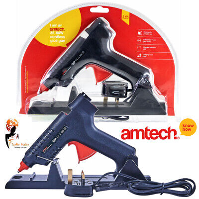 35 - 80W Cordless Glue Gun Corded Electric Hot Melt Craft Hobby Amtech S1845