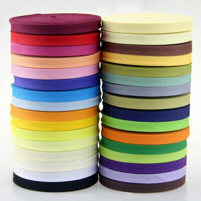 "Cotton Bias Binding Tape 12mm (<13mm) Wide 1/2"" Double Fold Trim/Edging/Quilting"
