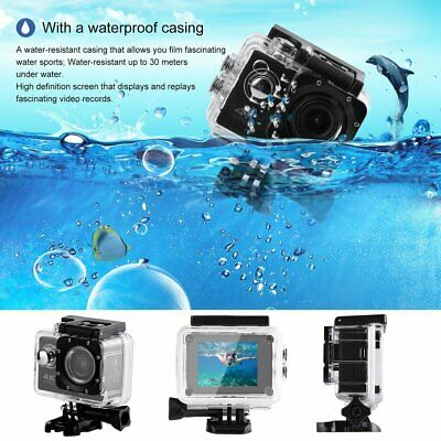 WiFi 4K ULTRAHD 1080P Waterproof Sports Action Camera Camcorder Cam for GoPro bH