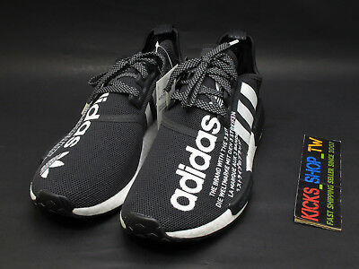 new style 9af48 4012e 2018 JAPAN LIMITED atmos x adidas Originals NMD R1 BLACK WHITE 3M BOOST  G27331