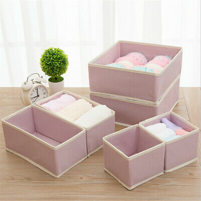 Non-woven Drawer Closet Organizer Underwear Bra Scarfs Sock Useful Storage Box Z