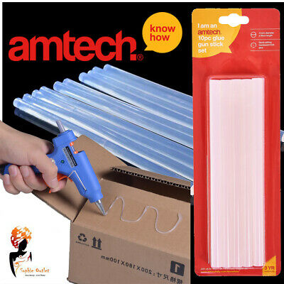 Glue Gun Stick 7.5 X 100mm Hot Melt Hobby Adhesive Decorating Craft Amtech S1865