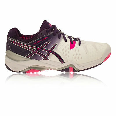Asics Womens Gel-Resolution 6 Tennis Shoes Pink Purple White Sports Breathable