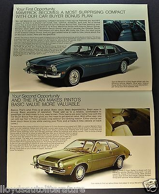 1973 Ford Maverick & Pinto Decor Sales Brochure Folder Excellent Original 73