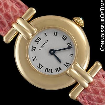 CARTIER COLISEE Ladies Solid 18K Gold Watch - Box & Papers - Mint w/ Warranty