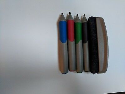 Smartboard pens and eraser in good condition