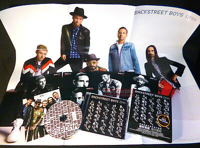 Backstreet Boys DNA BSB 2019 Taiwan Limited CD + Folded Poster + 6 Cards NEW!