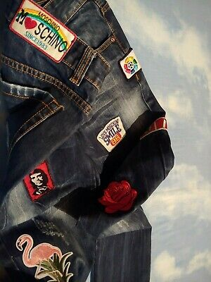 TROUSERS vintage woman LOVE  MOSCHINO  made Italy TG.29-43 circa S/M RARE