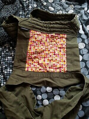 67190985475 Baby Hawk Mei Tai Infant Toddler Carrier Olive green with reversible pattern