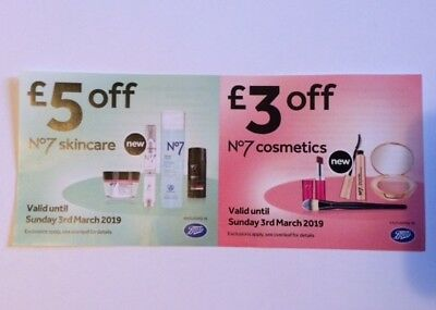 No7 skincare and cosmetics Boots voucher