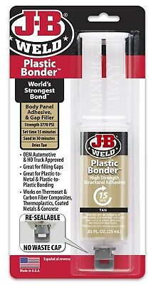 Jb Weld J-B Plastic Weld Epoxy Syringe Adhesive Quick Setting High Strength Tan