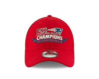 New England Patriots New Era 6-Time Super Bowl Champions 9Forty Adjustable Hat
