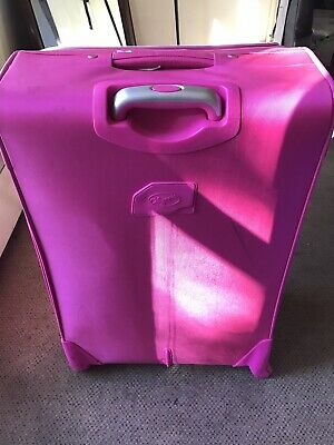 Pink Luggage Travel Bag Trolley Spinner Suitcase