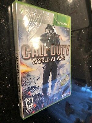 Call of Duty World at War Platinum Hits Xbox 360 Brand New Factory Sealed