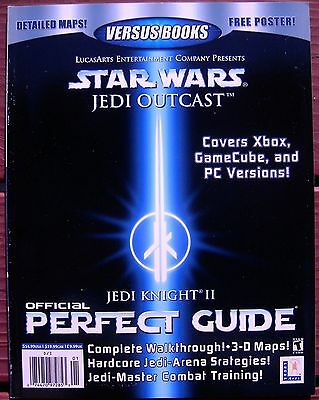 STAR WARS Jedi Knight II Outcast NEW Official PERFECT GUIDE Versus Books XBOX 51