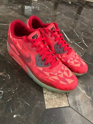 dd8c91b488 Pre-Owned Nike Air Max 90 Ice Gym Red University Camo Yellow Size 11.5