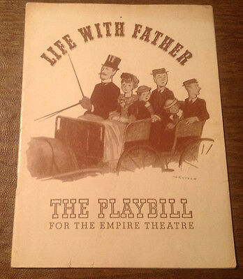 1941 Life With Father Play at the Empire Theatre Broadway NYC Playbill