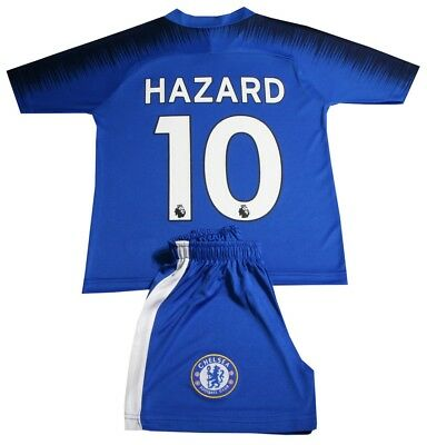 Chelsea Home Number 10 hazard Football Shirt And Short Kids Sizes 2018/19