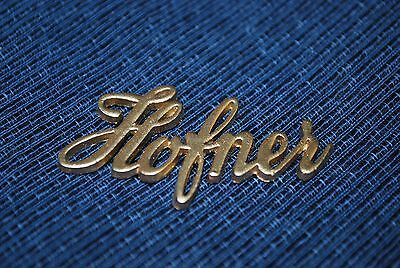 Hofner En Relieve Logo. In Gold Or White