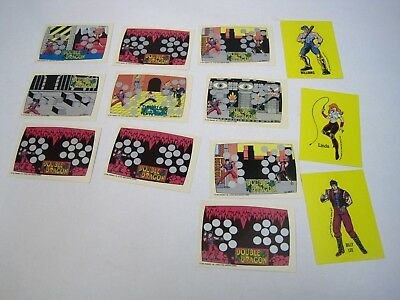 1989 Topps Nintendo Double Dragon Scratch-Off Game Screen Cards LOT OF 13 CARDS
