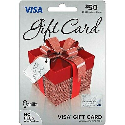 $50 Gift Visa Card. Activated. Free Shipping. Ready to use. *No Hidden fees*