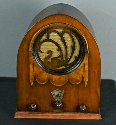 Jackson Bell Peacock Swan Cathedral Radio Model 62 ORIGINAL UNRESTORED Tube MINT