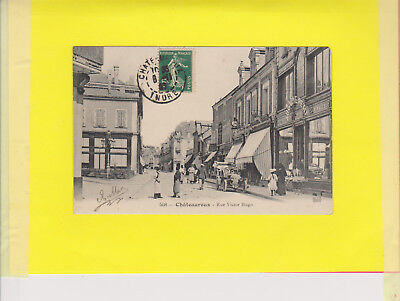 36 Cpa-Ak Indre Chateauroux Rue Victor Hugo Tres Animee 1907