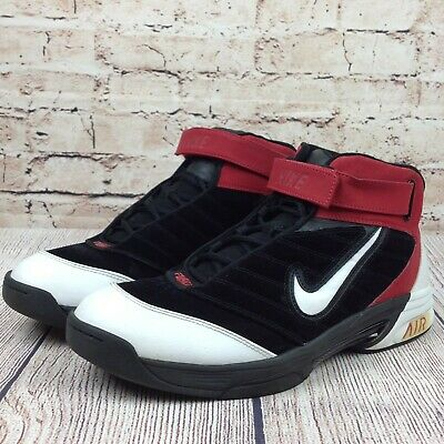 buy popular 38b9f 6ff0e NIKE AIR FORCE Lockdown Men s Basketball Shoes Size 11.5 Suede Black Red  Sneaker