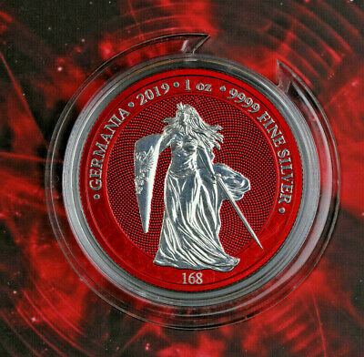 Germania 2019 + Space Red + 5 Mark + 1 oz 999 Silber + World Money Fair + 500 Ex