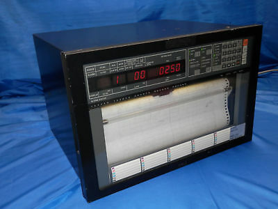 Yokogawa model 4081 30 ch.signal recorder +ribbon+paper+manuals (temp.,sensor,