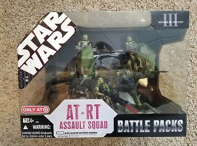 Star Wars 2007 Ep3 At-Rt Assult Squad Battle Pack Mint In Near Mint Sealed Box