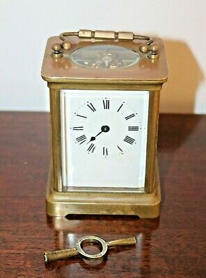 Antique French Duverdrey & Bloquel Carriage Clock with Key - 19th Century