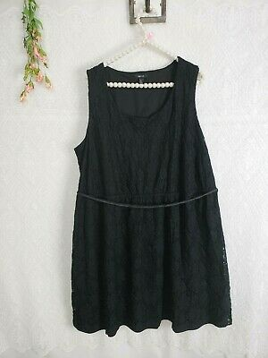 2d56f8751e39e Womens Size 2X Black Lace Dress sleeveless stretchy skater fit and flare  Apt. 9