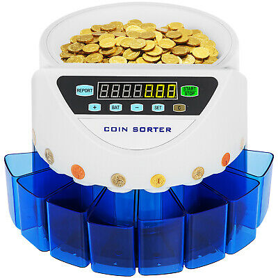 Automatic UK Coin Counter Sorter Machine Old/New Coin All in One Batch Function