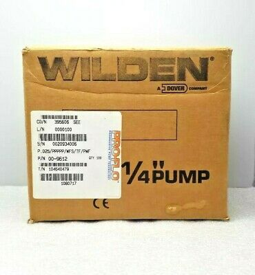 "New Wilden 00-9612 Aod Pump 0.25"" Pro-Flo Clamped Polypropylene"