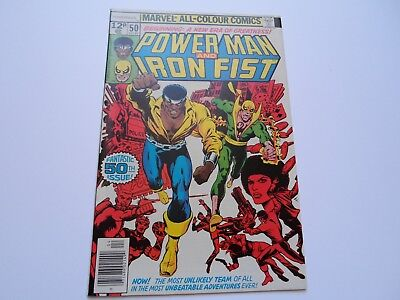 Power-man & Iron-fist 50 (1978) NM- / VF+ 1ST SERIES TOGETHER Luke Cage