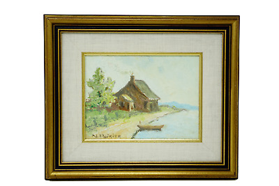 Narcisse Poirier Signed Oil Painting