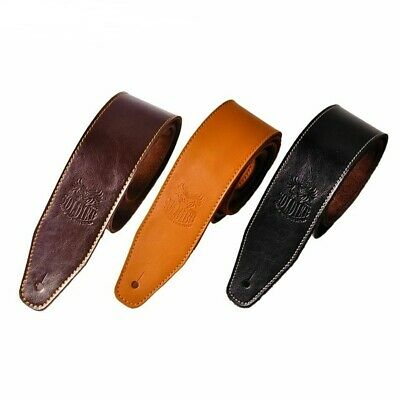 Leather Real Cowhide Guitar Strap Adjustable Belt For Acoustic Electric Guitar
