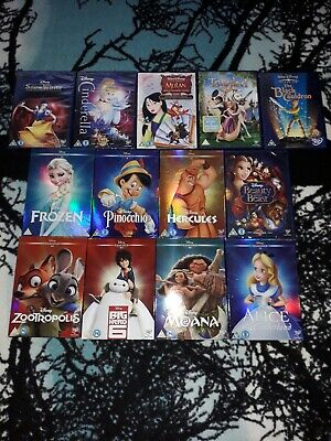 13 Disney DVD'S-10 New/Sealed-3 Used/VGC-Incl:-Frozen,Mulan,Tangled,Moana + More