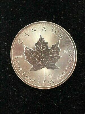 2014 1 Troy oz .9999 Fine Silver Canadian Maple Leaf $5 Coin